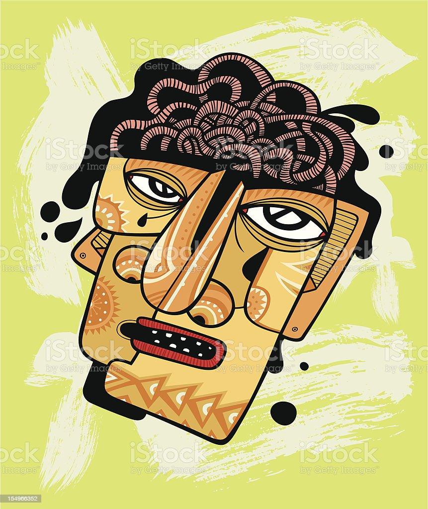 Boiling brain vector art illustration