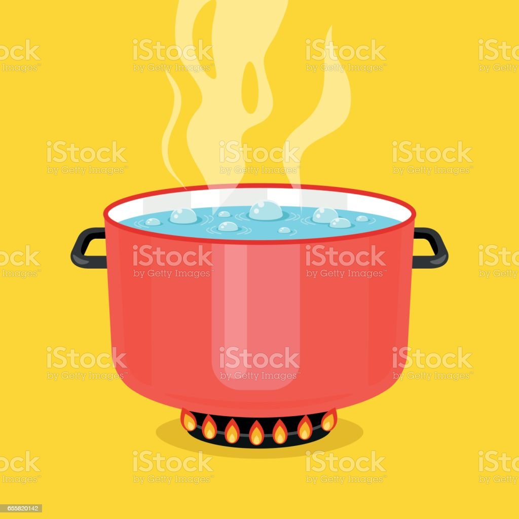Royalty Free Boiling Water Clip Art Vector Images