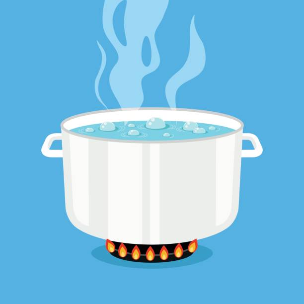 Royalty Free Boiling Water Clip Art, Vector Images ...
