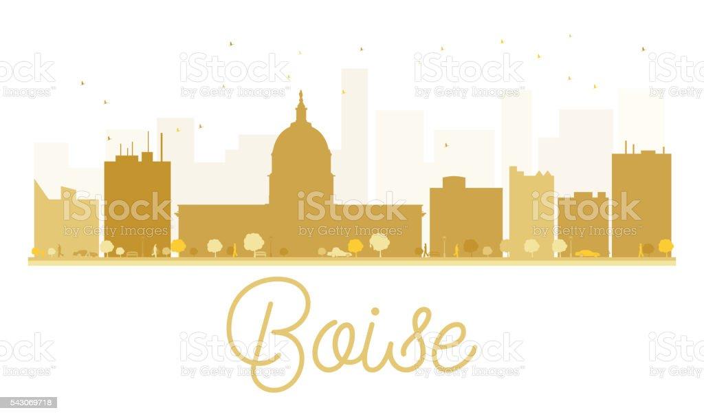 Boise City skyline golden silhouette. vector art illustration