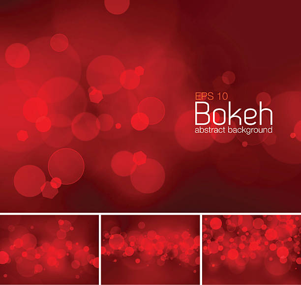 Bokeh and blur vector abstract background – Vektorgrafik