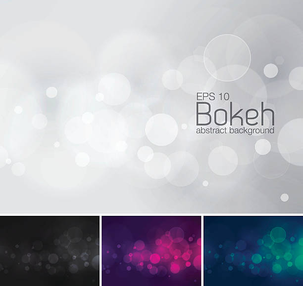 Bokeh, desfoque de fundo abstrato do vetor - ilustração de arte em vetor