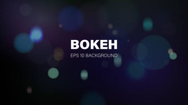 Bokeh Background vector art illustration