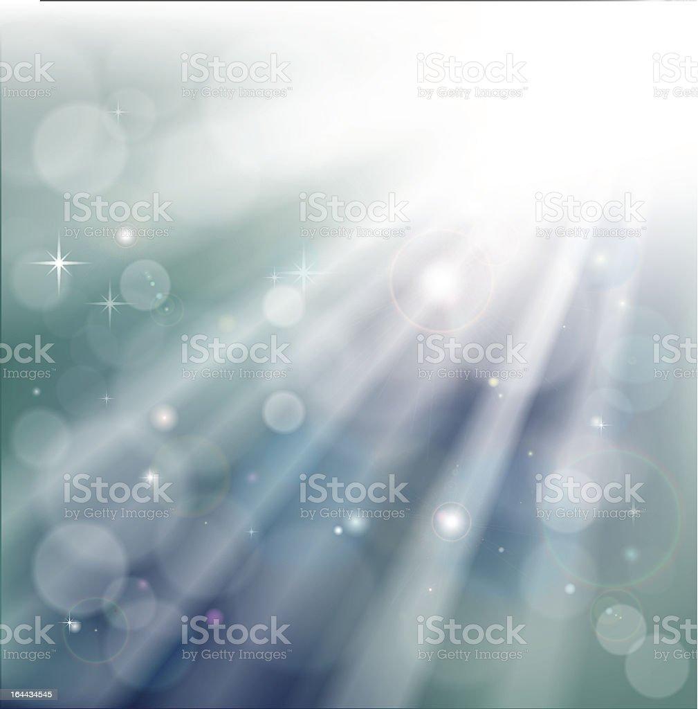 Bokeh light rays background vector art illustration