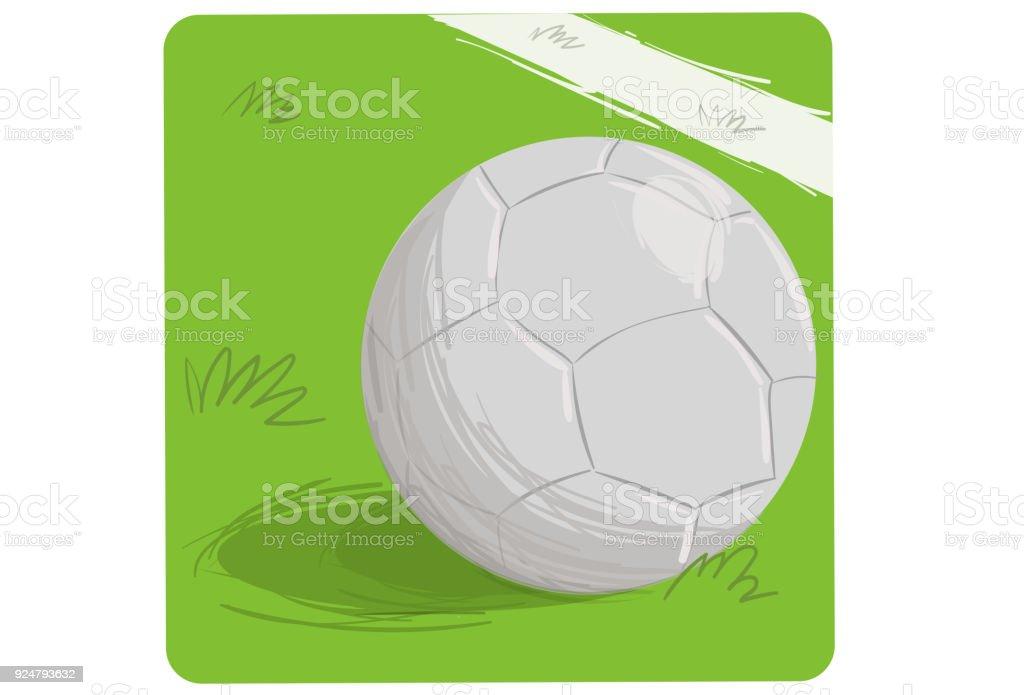 Bola de futebol  - ilustração de arte em vetor