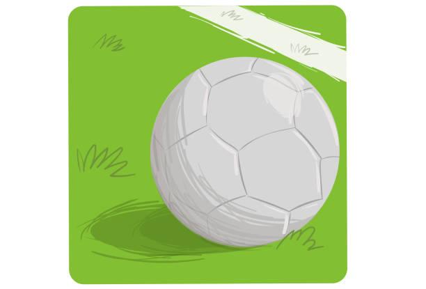 Bola de Futebol Bola de futebol parada no gramado do futebol. futebol stock illustrations