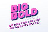 Bold 3d font