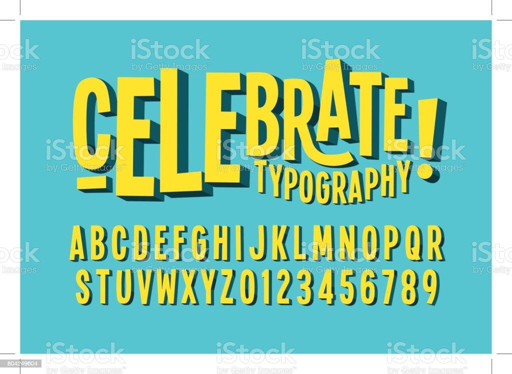 Bold alphabet - Grafika wektorowa royalty-free (Alfabet)