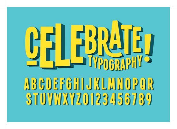 bold alphabet - happy holidays stock illustrations