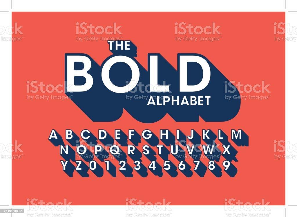 Alfabeto em negrito - ilustração de arte em vetor