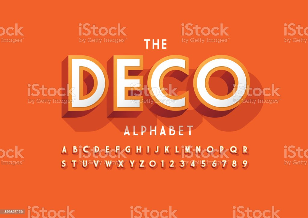 Bold alphabet vector art illustration