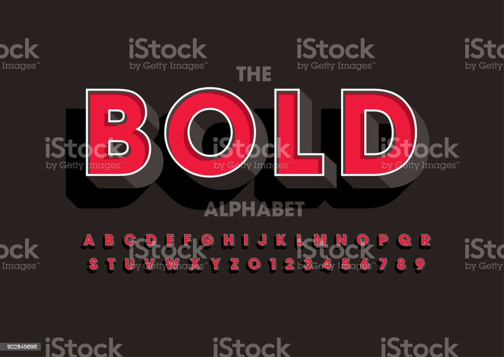 Bold alphabet royalty-free bold alphabet stock illustration - download image now