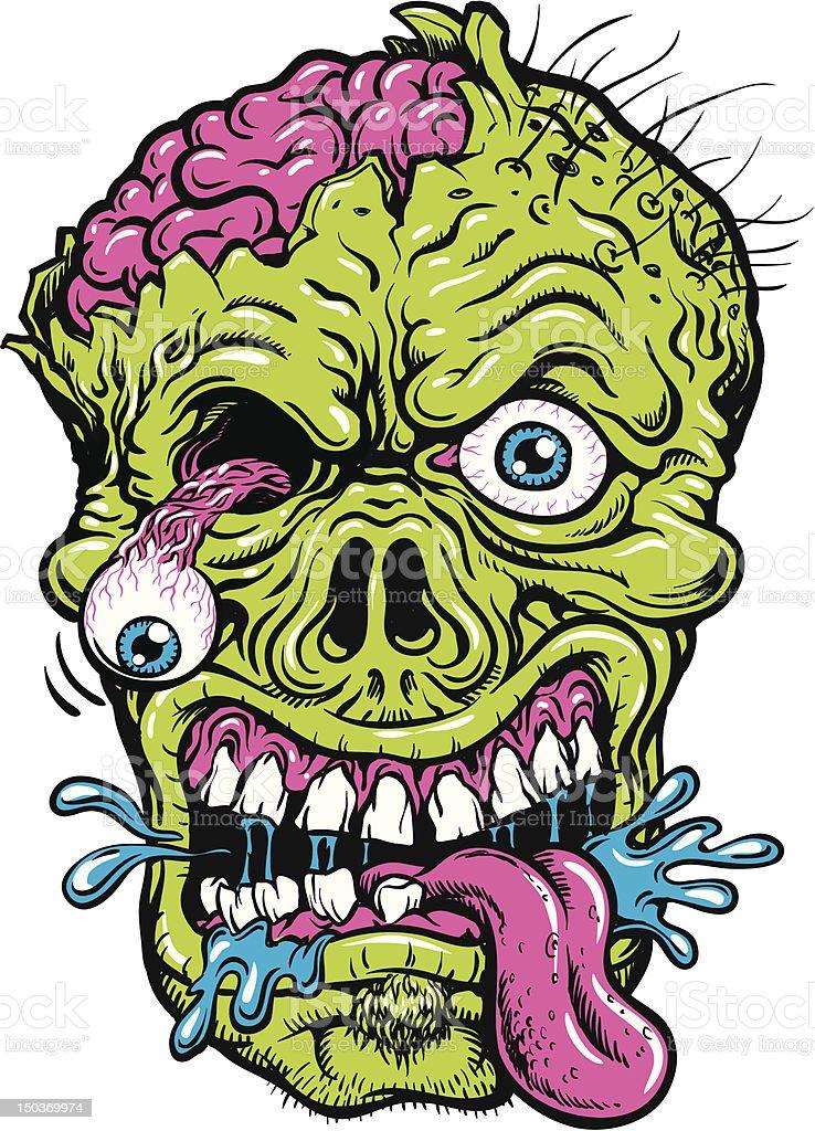 Bold Crazy Zombie Vector Illustration vector art illustration