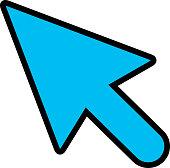 Bold Line Curser Arrow Icon