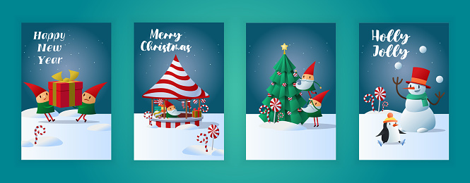 Bold Merry Christmas greeting cards