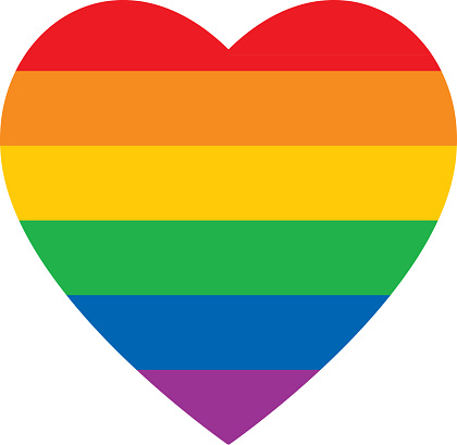 Bold Rainbow Heart Icon