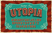 istock A bold sans-serif font in vintage style 1302110353