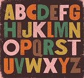 istock Bold vintage sans serif alphabet 1207287182
