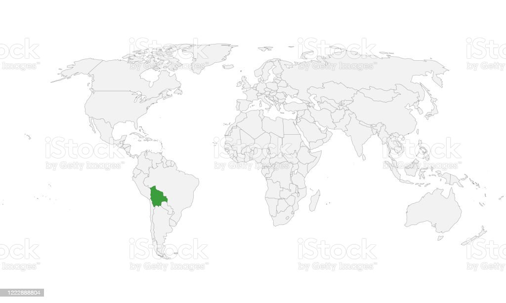 Picture of: Bolivia Country Highlighted Green On World Map Stock Illustration Download Image Now Istock