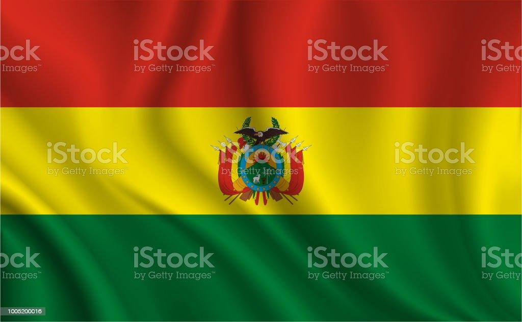 Fondo de bandera de Bolivia - ilustración de arte vectorial