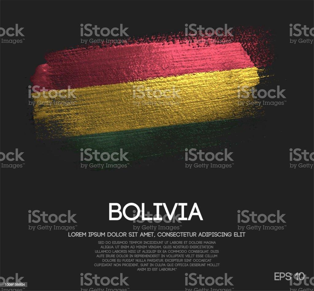 Bandera de Bolivia de brillo brillo brocha Pintura vectorial - ilustración de arte vectorial
