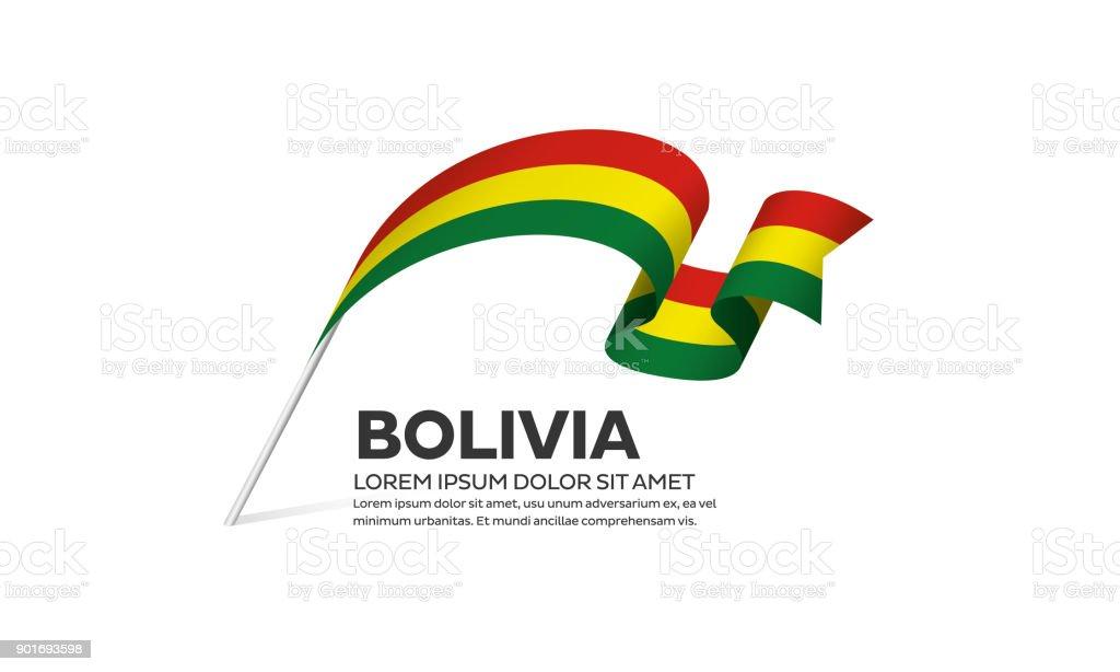 Bandera de Bolivia sobre un fondo blanco - ilustración de arte vectorial