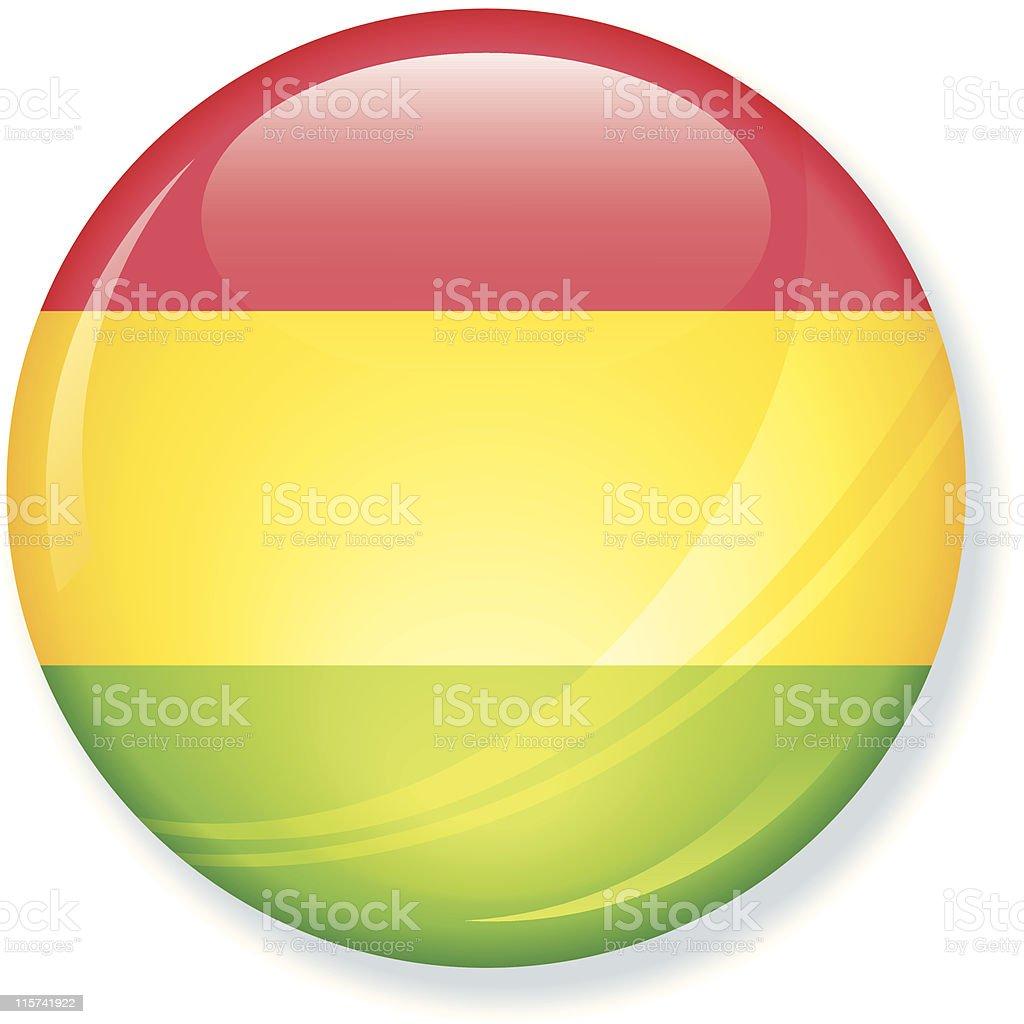 Bolivia bandera Super brillante - ilustración de arte vectorial