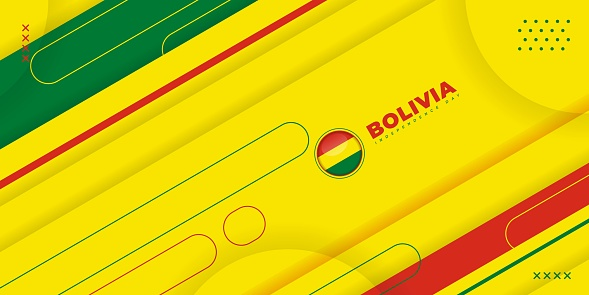 Bolivia Independence Day with abstract shape design.