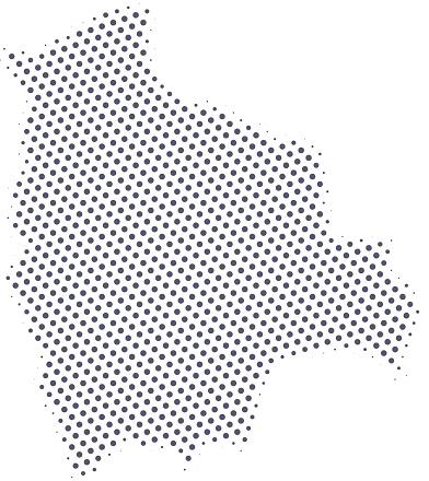 Bolivia map of dots