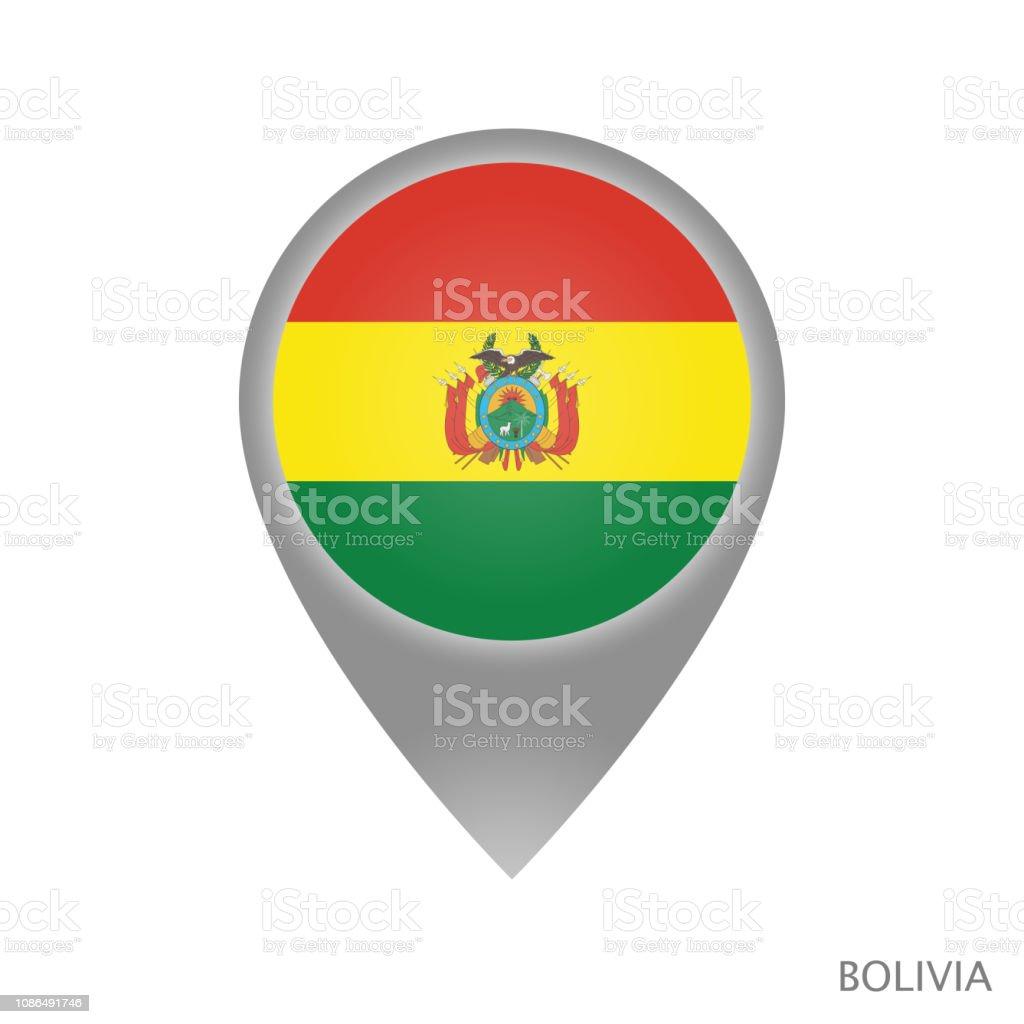 Punto de Bolivia - ilustración de arte vectorial