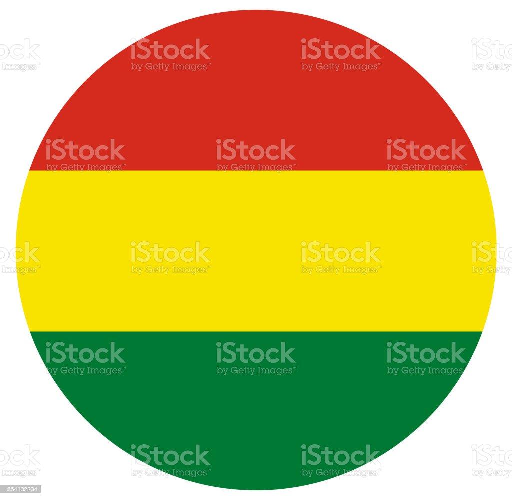 Bandera boliviana - ilustración de arte vectorial