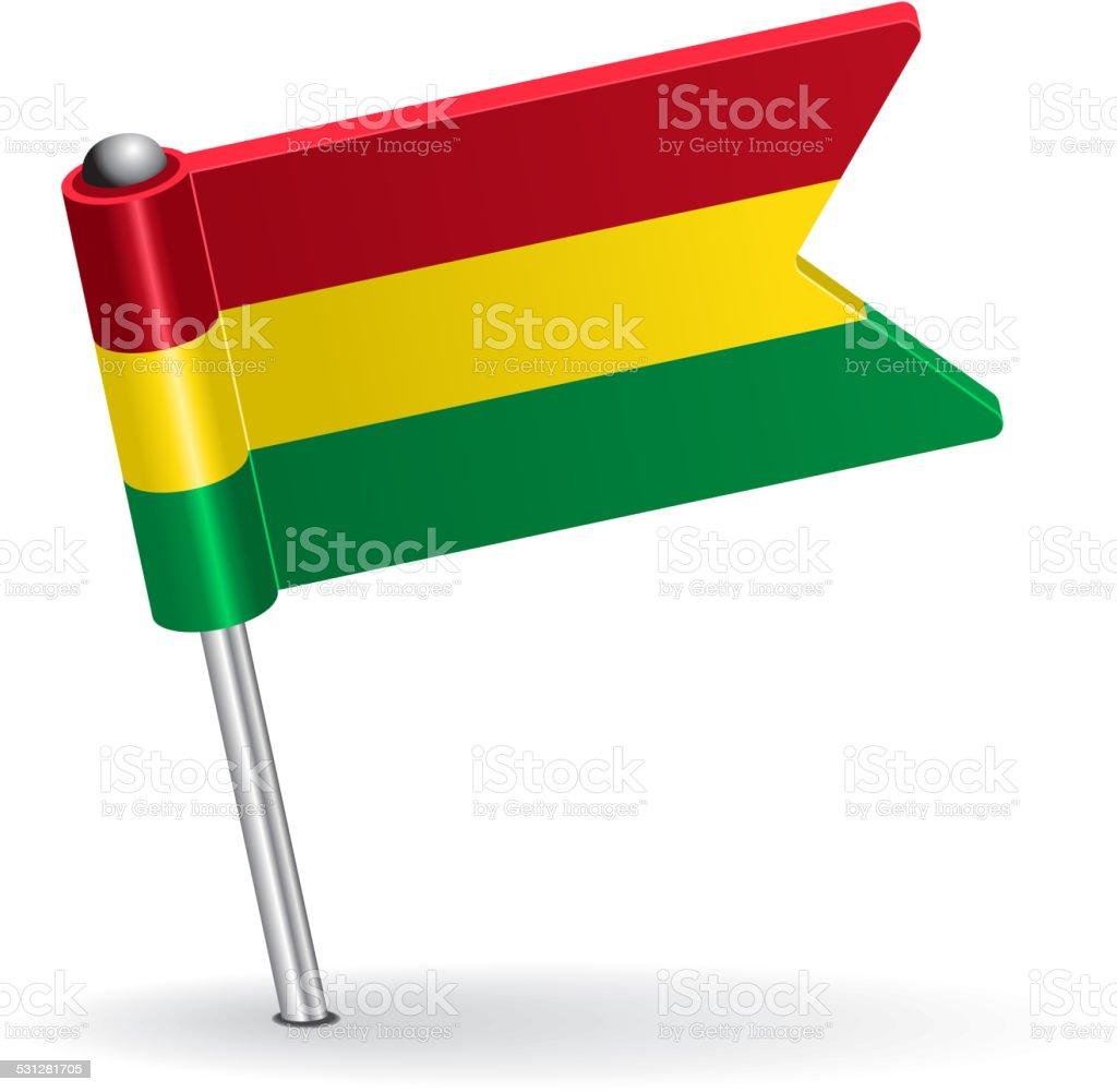 Icono bandera boliviana contactos. Ilustración vectorial - ilustración de arte vectorial