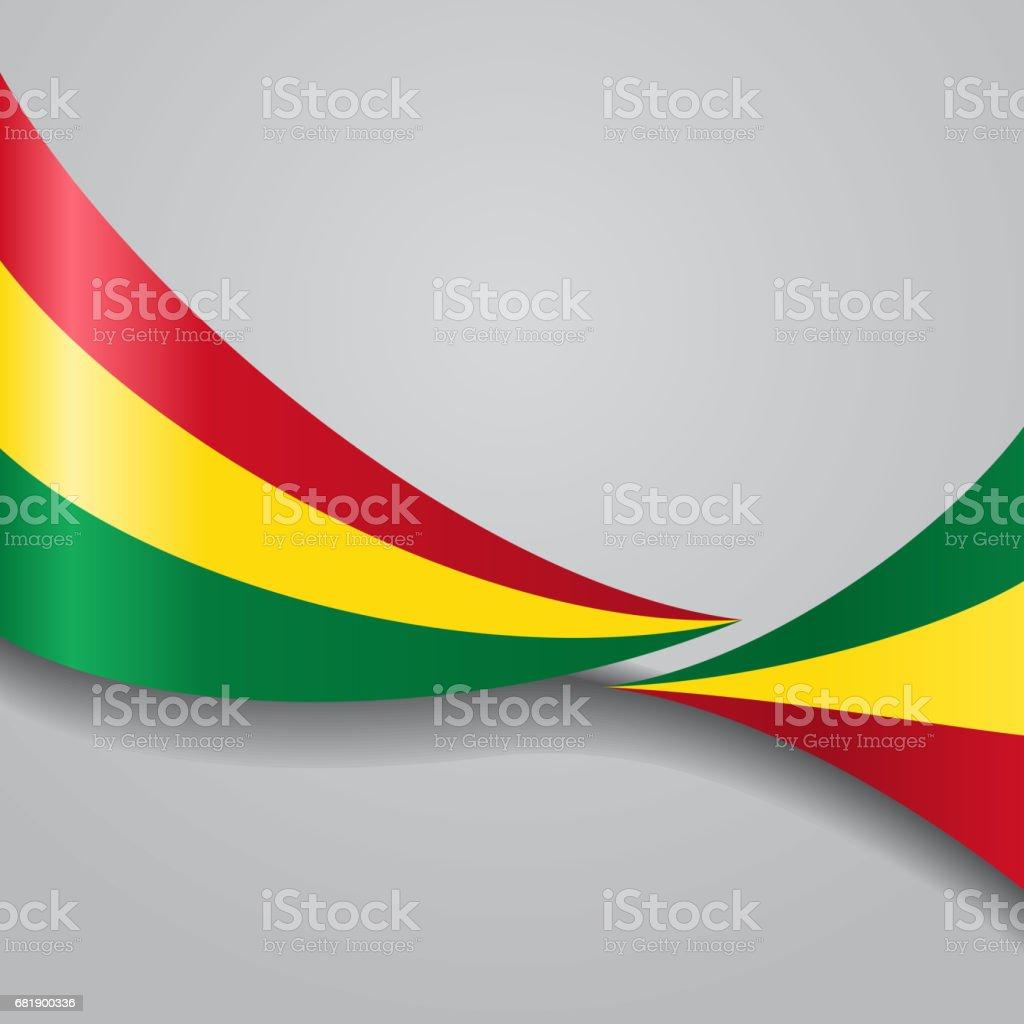 Bandera boliviana wavy. Ilustración de vectores. - ilustración de arte vectorial