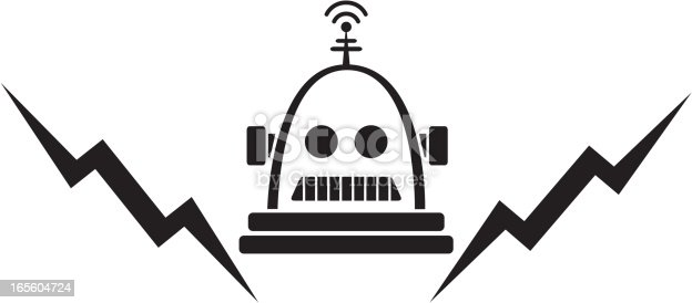 This guy is charged up and ready to go! Be careful, though. He's programmed to DESTROY! (SVG, EPS, JPEG)