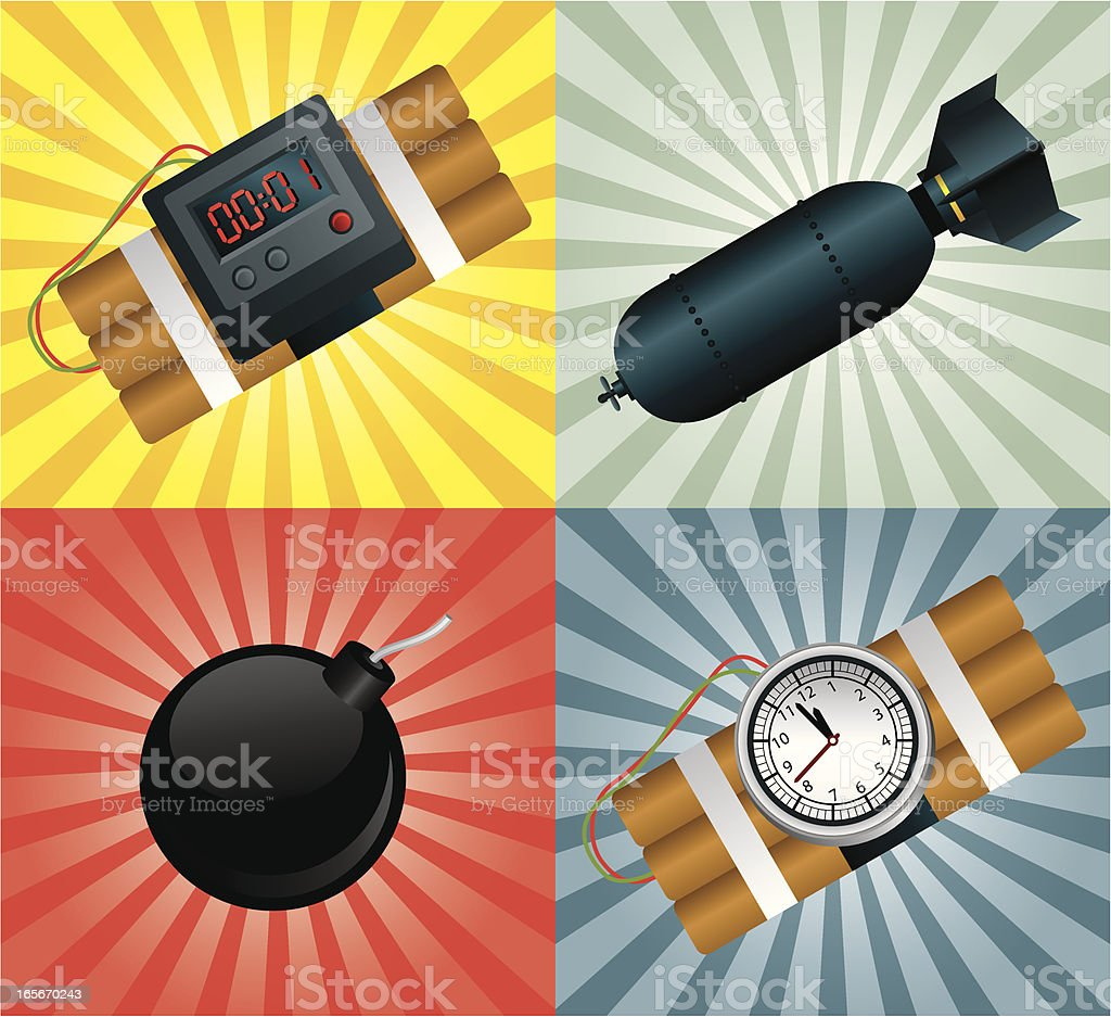 Bomb Collection royalty-free stock vector art