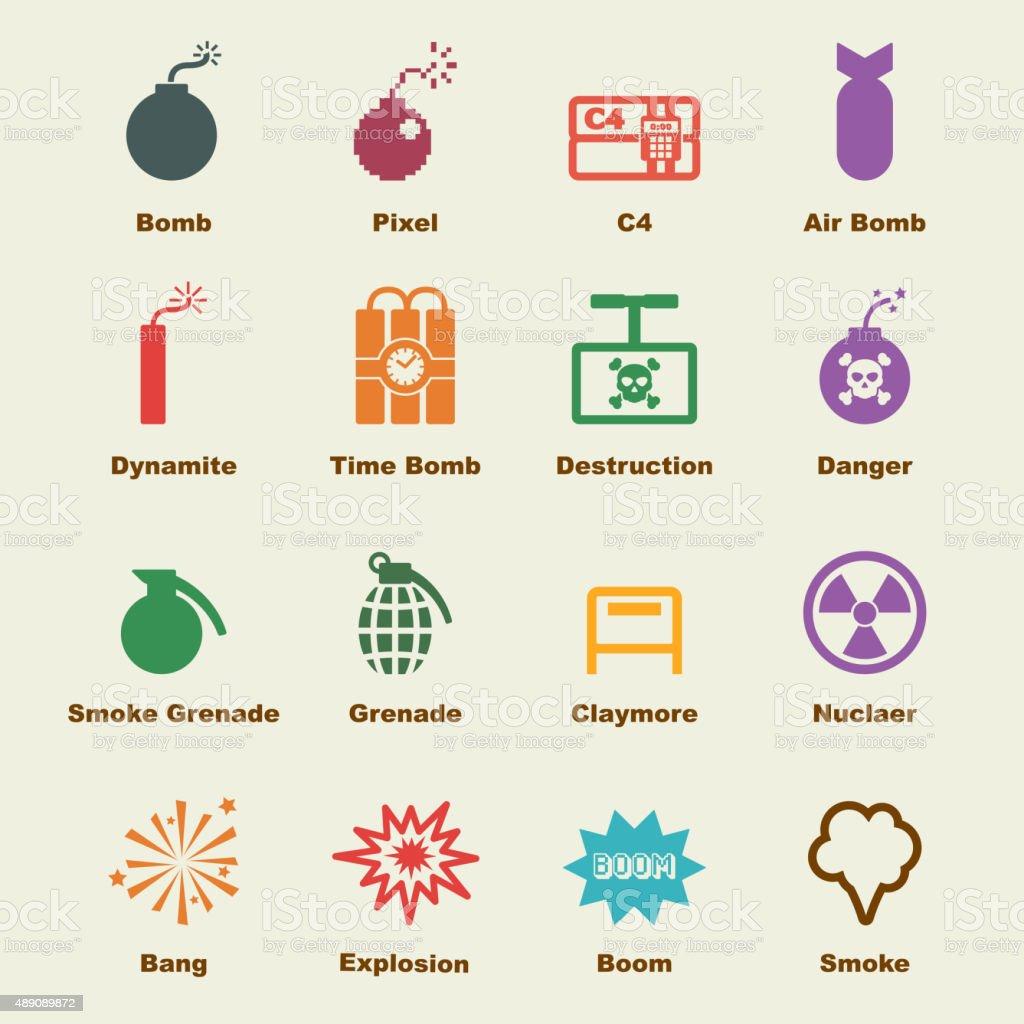 bomb elements vector art illustration