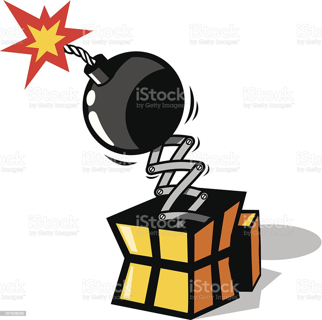 Bomb gift royalty-free stock vector art