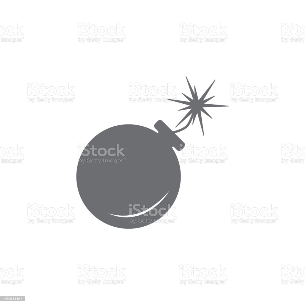 Bomb Icon Simple Element Illustration Bomb Symbol Design Template