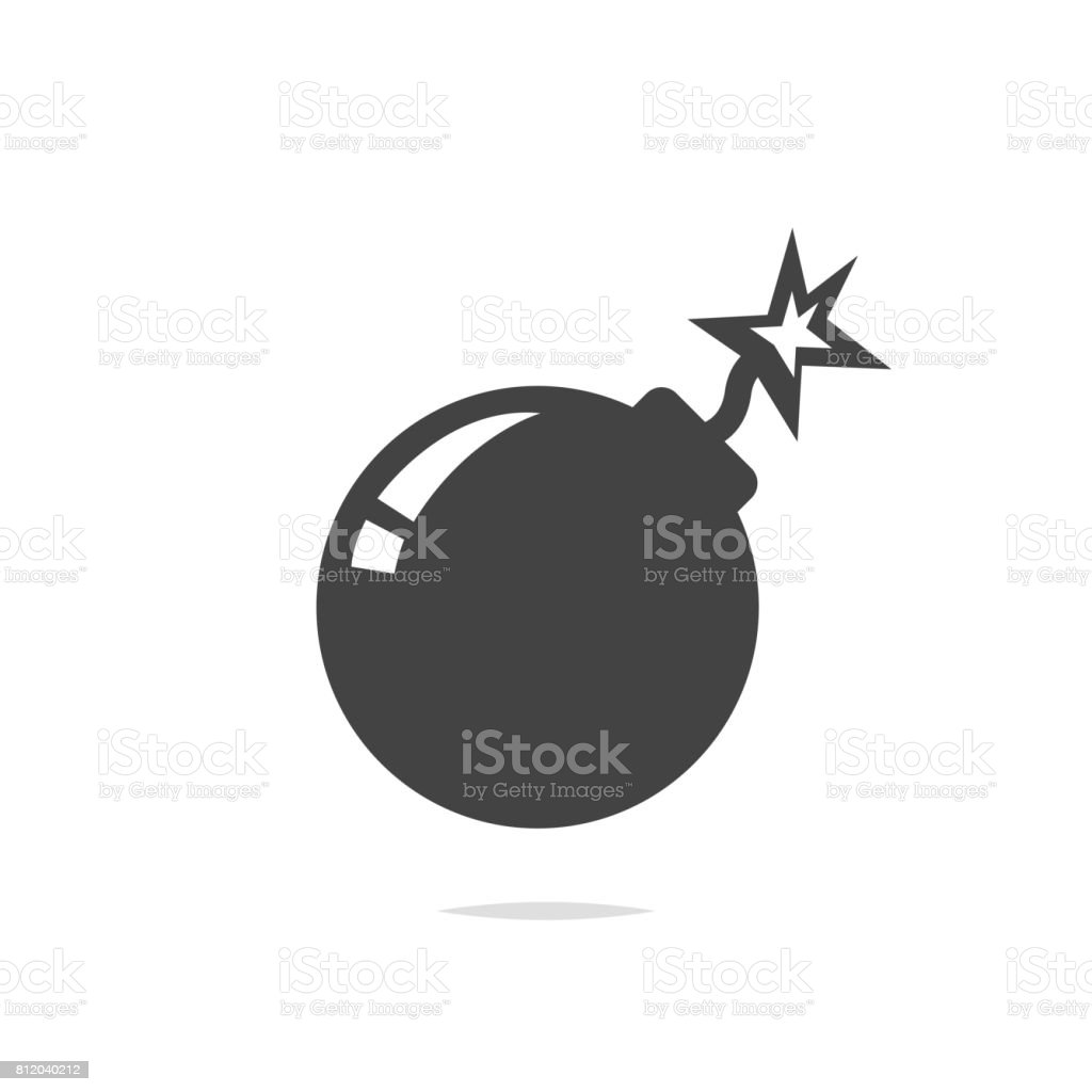 Bomb icon vector vector art illustration