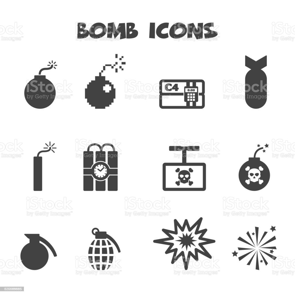 bomb icons vector art illustration