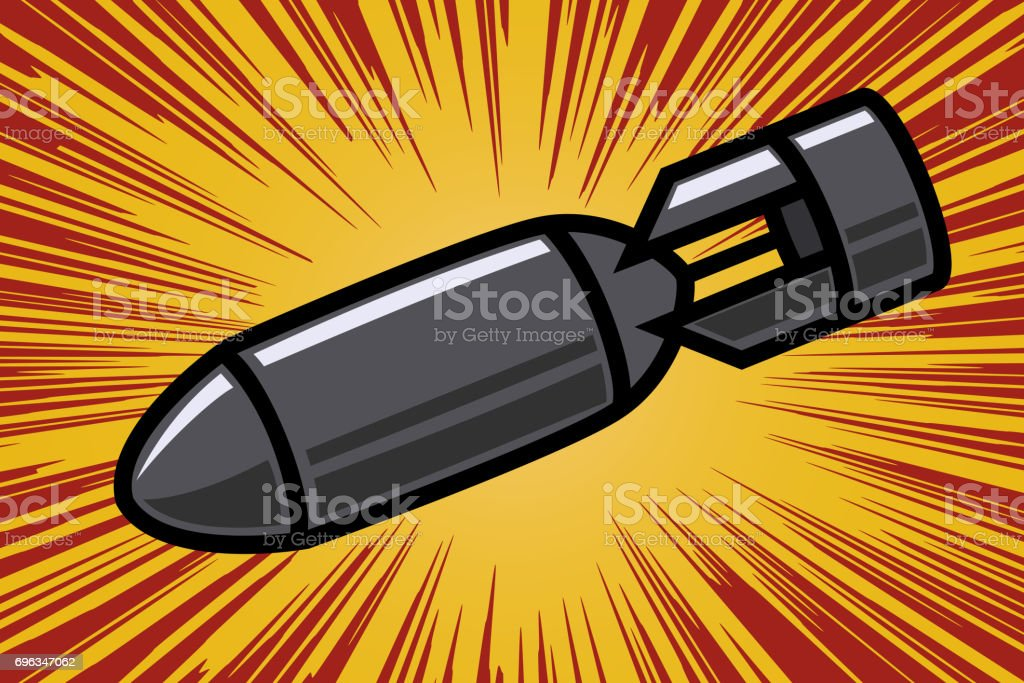 Bomb in comic book style. Design element for poster, flyer. Vector illustration vector art illustration