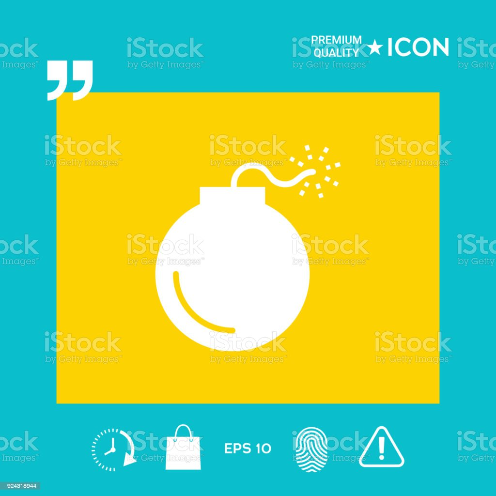Bomb Symbol Icon Stock Vector Art More Images Of Aggression
