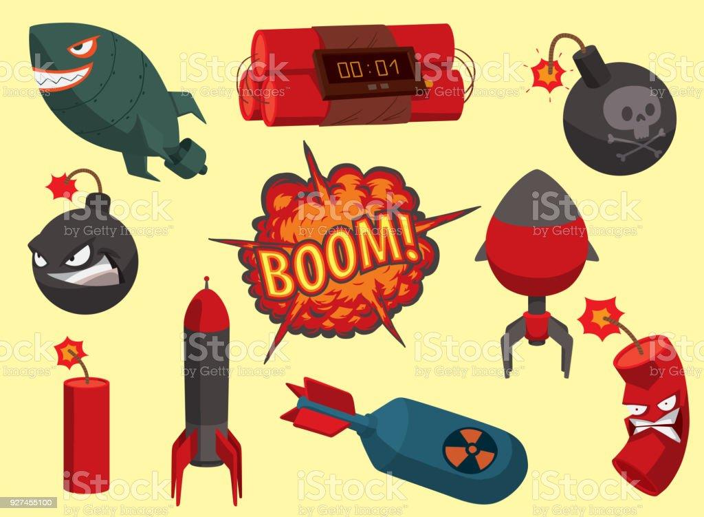 Vetores De Bomba Vector Fusivel Dinamite Ilustracao Granada Ataque