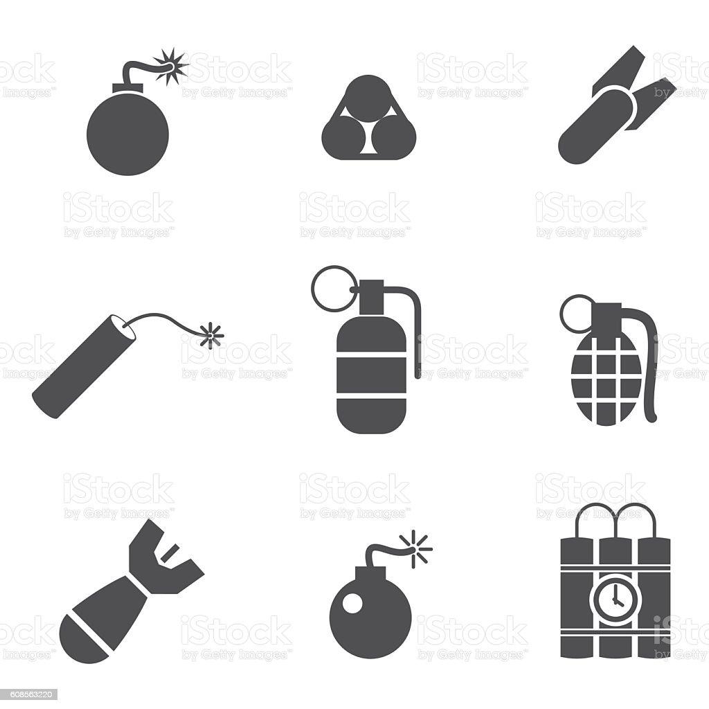 bomb vector icons vector art illustration