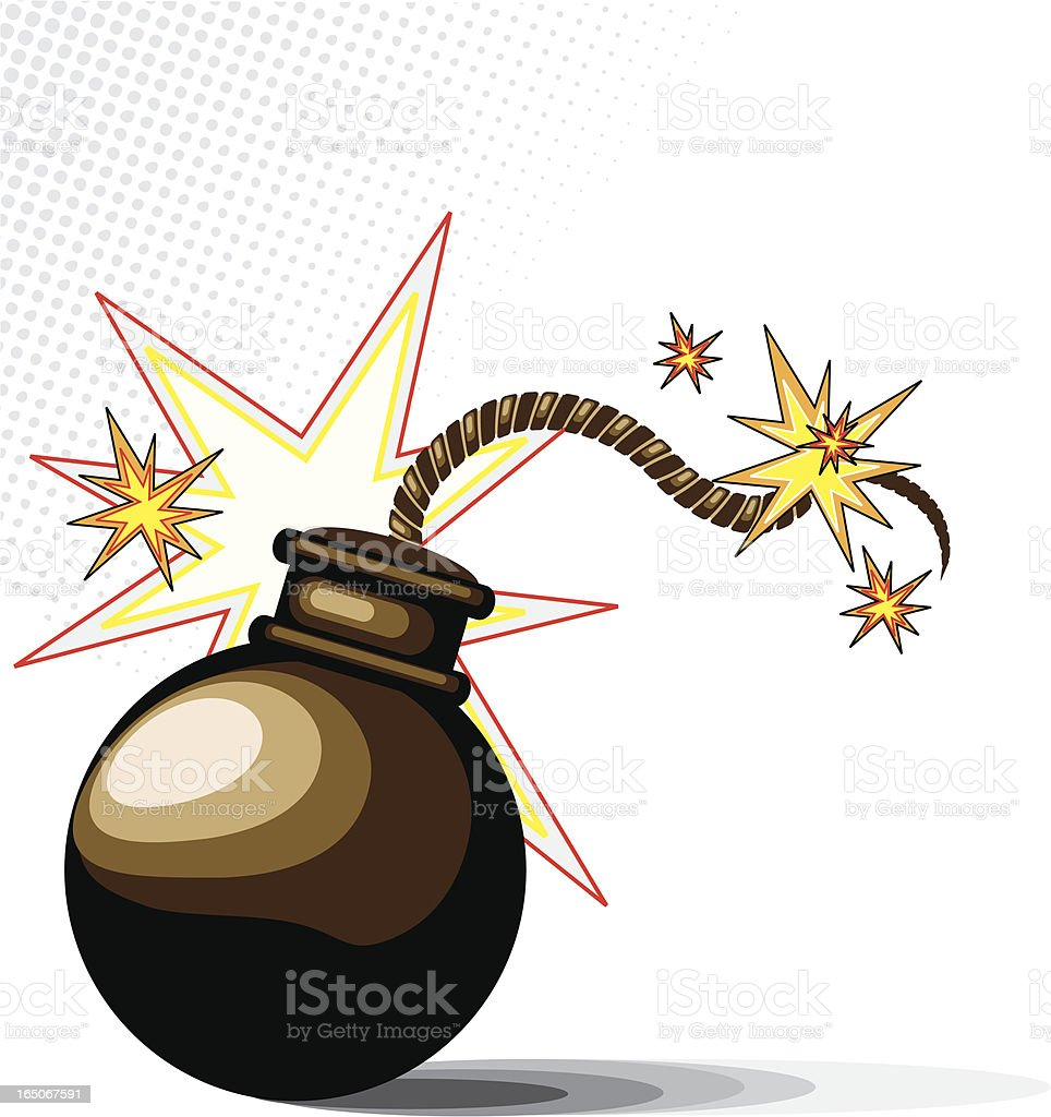 Bomb! royalty-free stock vector art