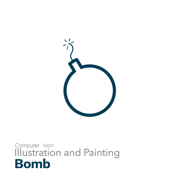 bomb Illustration and Painting explosive fuse stock illustrations