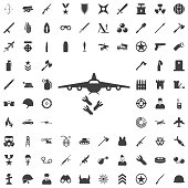 bombardment. vector