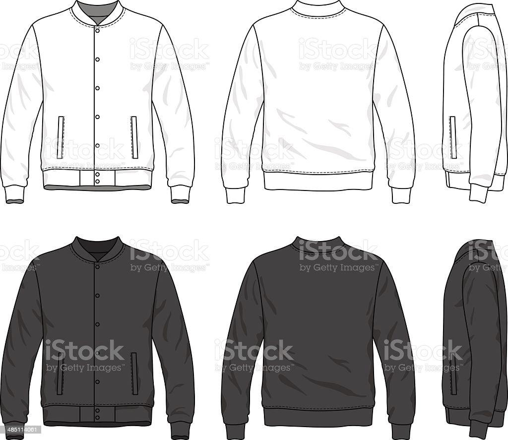 Bomber jacket vector art illustration