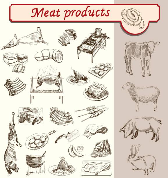 bildbanksillustrationer, clip art samt tecknat material och ikoner med bon appetit meat products - loin