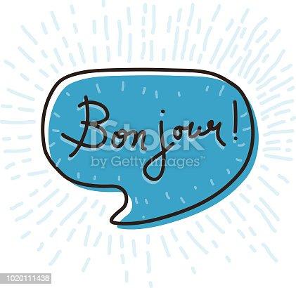 istock Bon jour Speech Bubble 1020111438